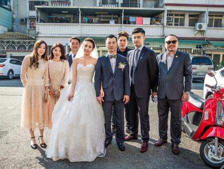 婚禮紀錄| 宴客地點:高雄 酒田日本料理餐廳宴會館|勝棋+弈儒 結婚迎娶  宴客
